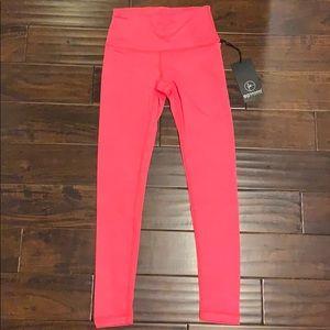 NWT Bright Pink heathered leggings